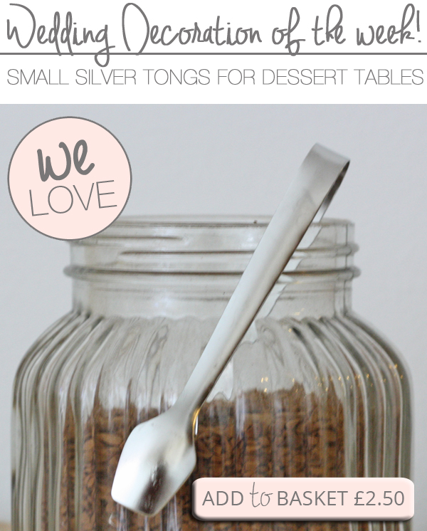 small silver tongs for wedding dessert tables