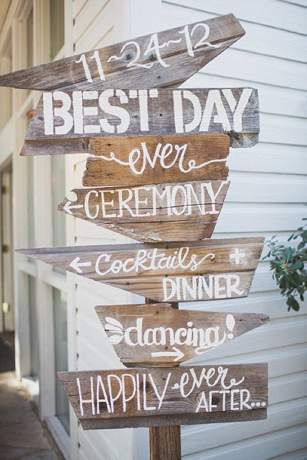 wedding ceremony signs ideas best day ever wooden sign