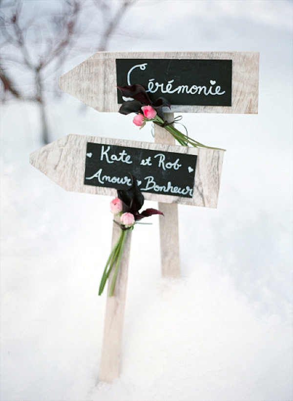 wedding ceremony signs ideas blackboard arrows