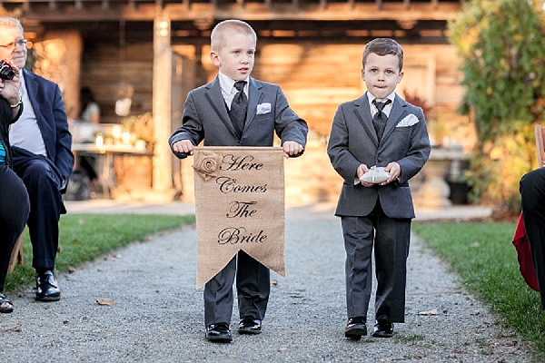 wedding ceremony signs ideas here comes the bride page boys