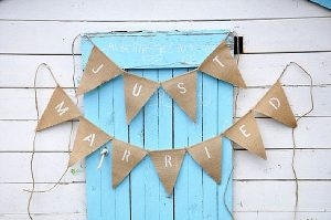 wedding ceremony signs ideas just married bunting