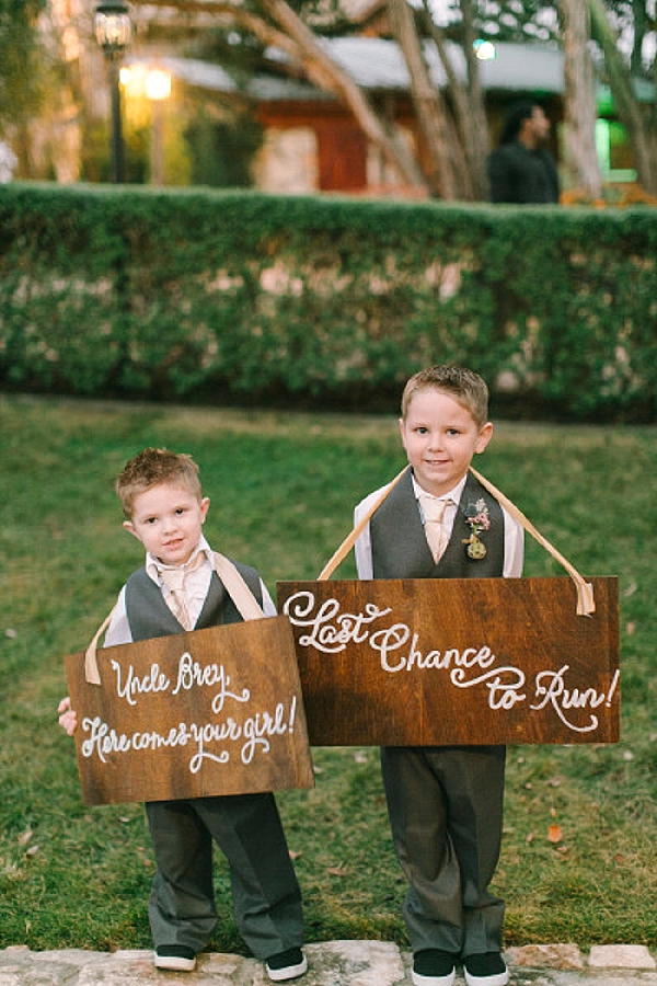 wedding ceremony signs ideas page boys ring bearers