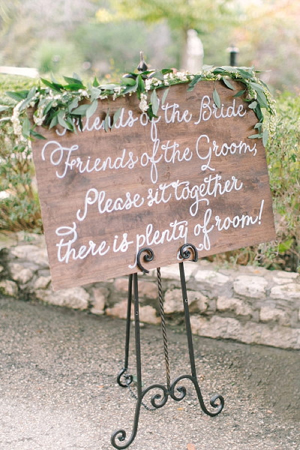 wedding ceremony signs ideas seating