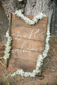 wedding ceremony signs ideas woode callgraphy
