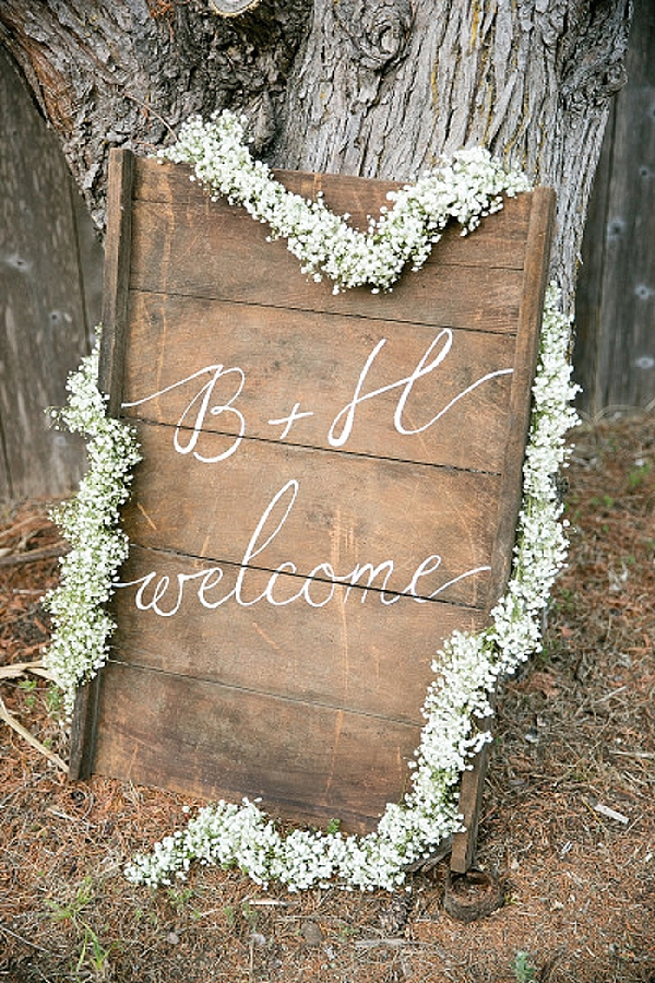wedding ceremony signs ideas woode callgraphy