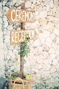 wedding ceremony signs ideas wooden arrows