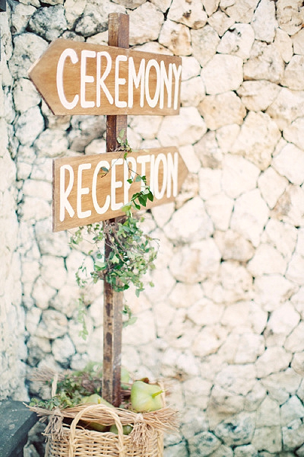 wedding ceremony signs ideas wooden arrows