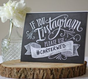 How to come up with a wedding hashtag