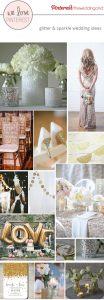 glitter and sparkle wedding ideas