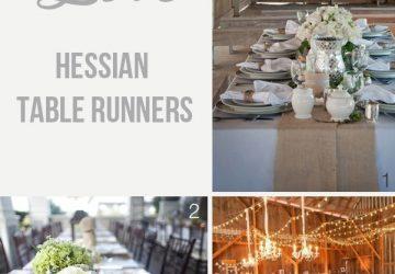 hessian table runners for weddings