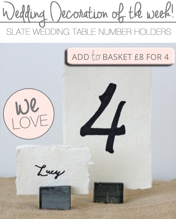 slate wedding table number holders