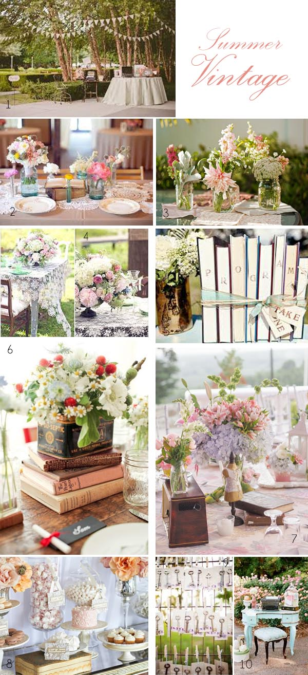 vintage wedding ideas summer vintage wedding decorations