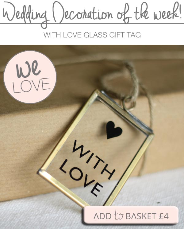 with love gift tag glass frame