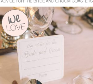 advice for the bride and groom coasters