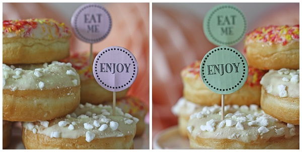 cupcake flags cake toppers eat me wedding dessert table
