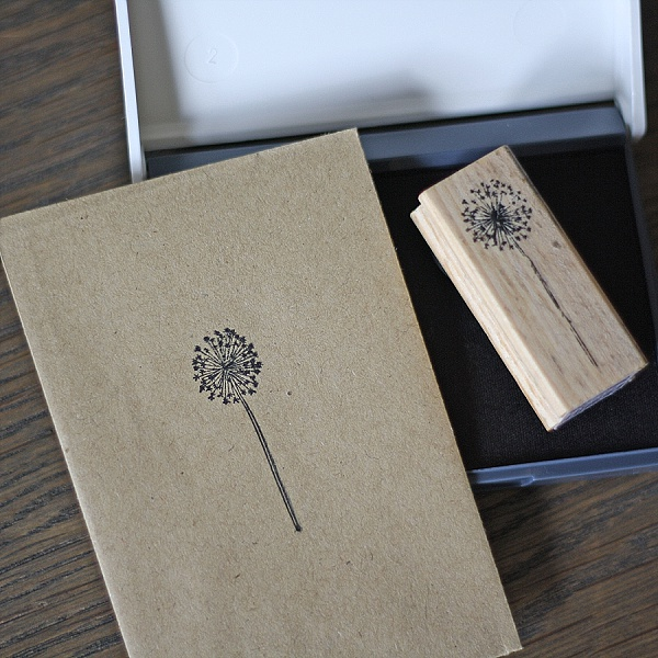 dandelion stamp for wedding favours seed packets