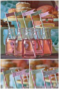flags for straws wedding dessert tables
