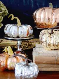 silver gold pumpkins wedding ideas