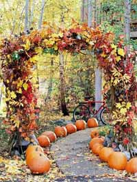 halloween weddings pumpkins down the aisle