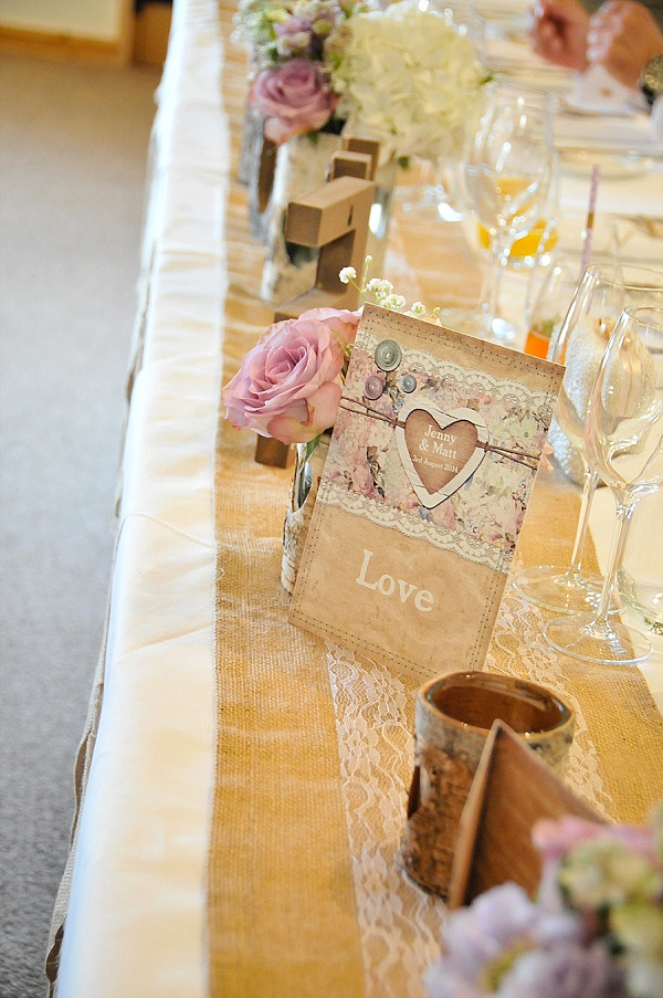 hessian table runners top table wedding