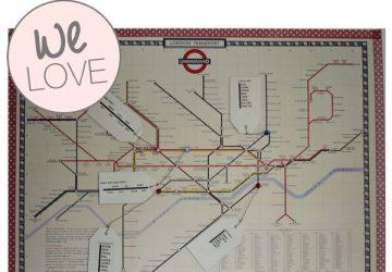london underground map wedding table plan