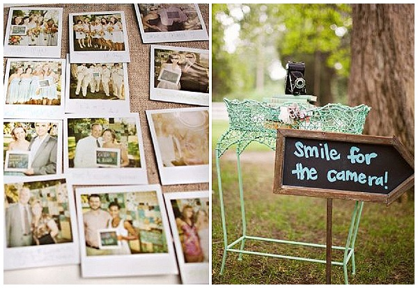 polaroid photo of each guest alternative wedding guest book ideas