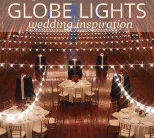 string globe lights wedding inspiration