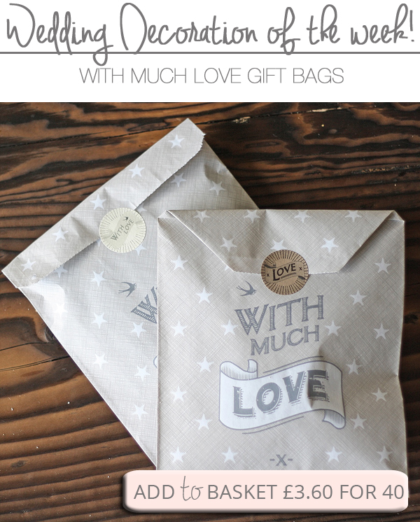 With Much Love Paper Gift Bags