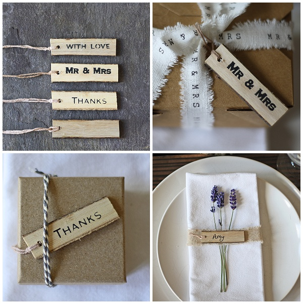 woden gift tags wedding place cards gift wrapping