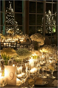 Christmas wedding table scape glitter and glamour (2)