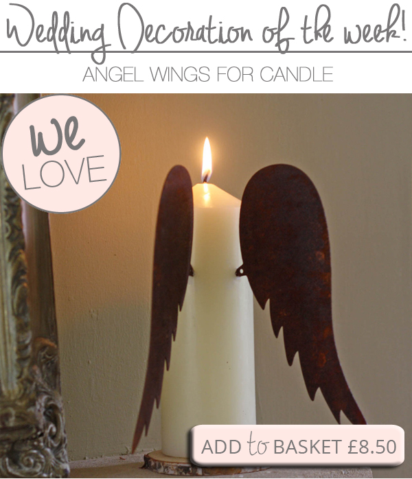 angel wings for candles winter wedding decorations