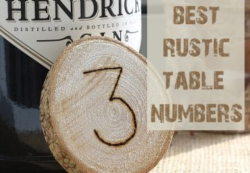 best rustic wedding table numbers ideas