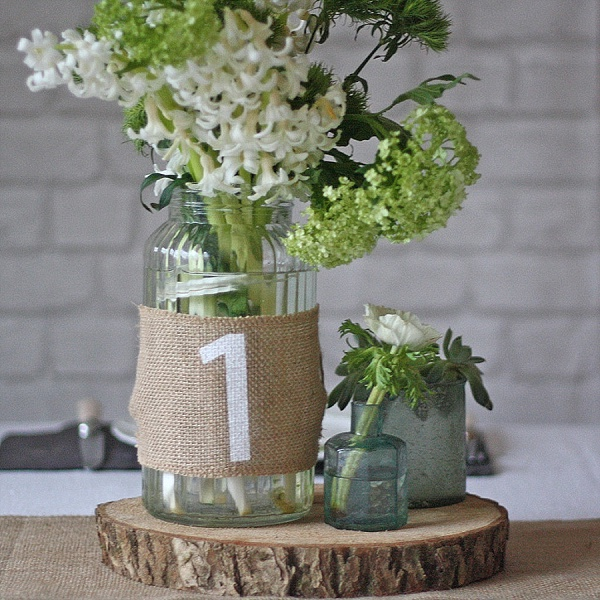 Best Rustic Wedding Table Numbers Ideas Hessian