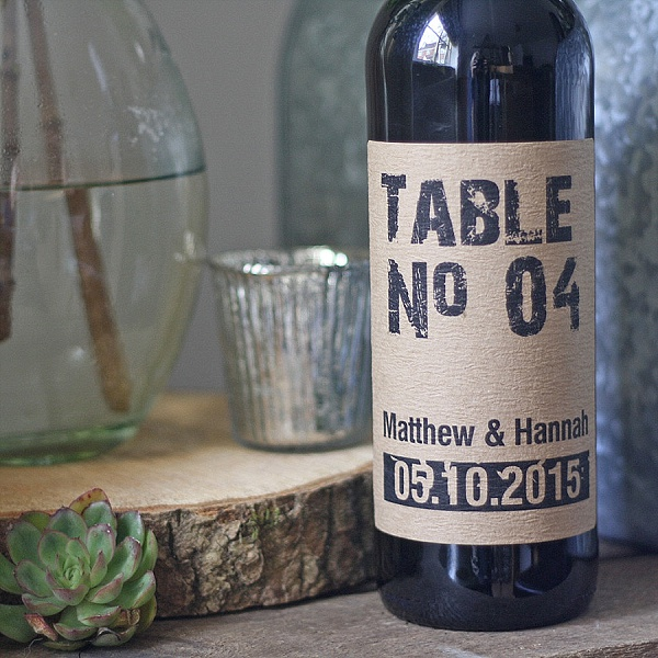 Best Rustic Wedding Table Numbers Ideas Personalised Number Stickers For Wine Bottles