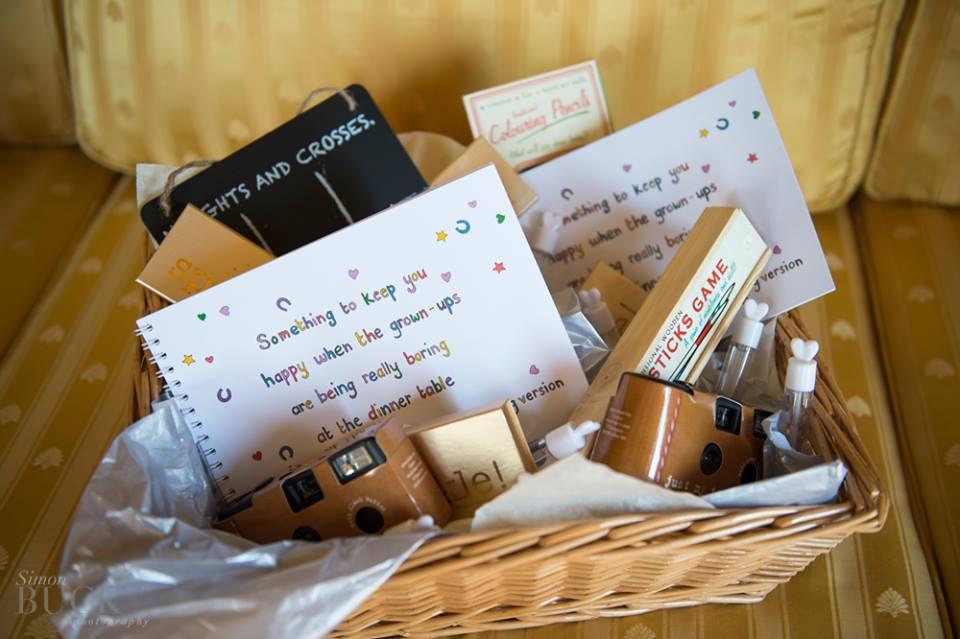 children's wedding activity basket