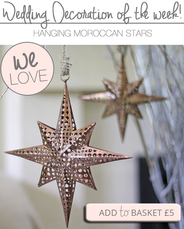 moroccan star hanging wedding decorations