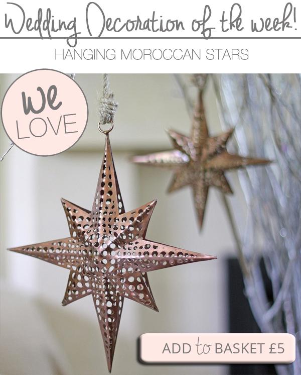 moroccan star hanging wedding decorations