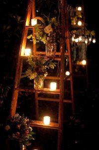 tea light holders wedding ideas decorative ladders