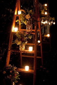 tea light holders wedding ideas decorative ladders