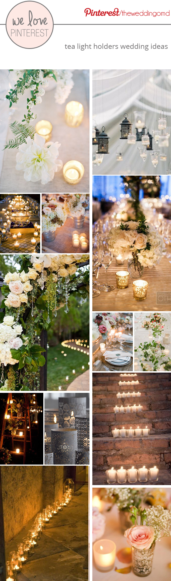 tea light holders wedding ideas