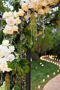 tea light holders wedding path
