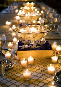 tea light holders wedding table ideas