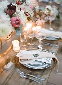 tea light holders wedding tables