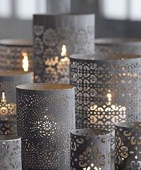 tea light holders white lanterns wedding ideas