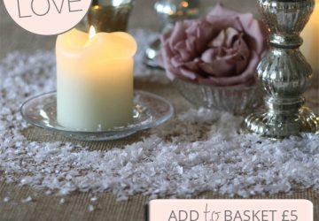 white snow flakes winter wedding decorations