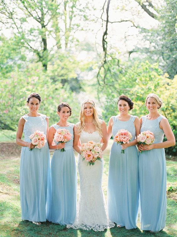 Blue Pink Peach wedding ideas