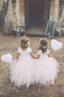 bluch pink flower girl dresses for young bridesmaids