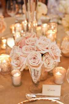blush pink wedding ideas blush pink roses and silver vases