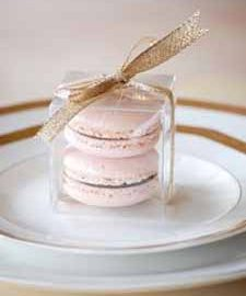 blush pink wedding ideas pink macarons as wedding favours