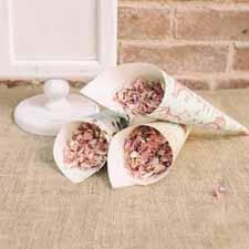 blush pink wedding ideas pink petal confetti in pink cones